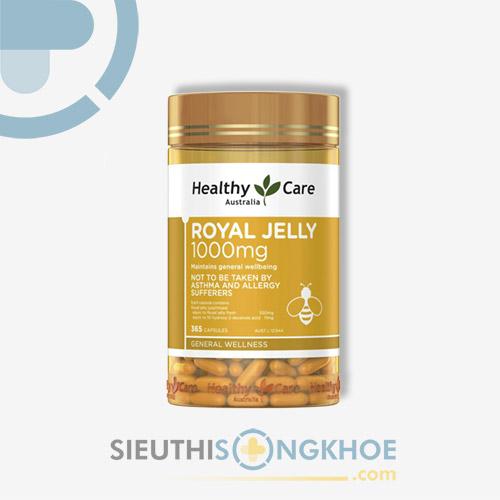 Healthy Care Royal Jelly 1000mg - Viên Uống Hỗ Trợ Cải Thiện Da & Sức Khoẻ