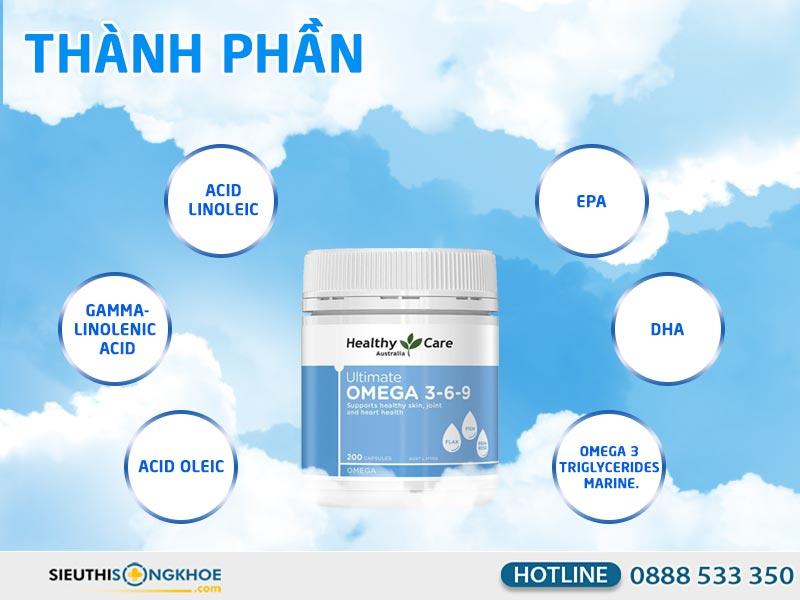 thành phần của omega 369 healthy care