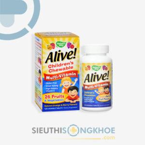 alive children's chewable multi-vitamin orange & berry