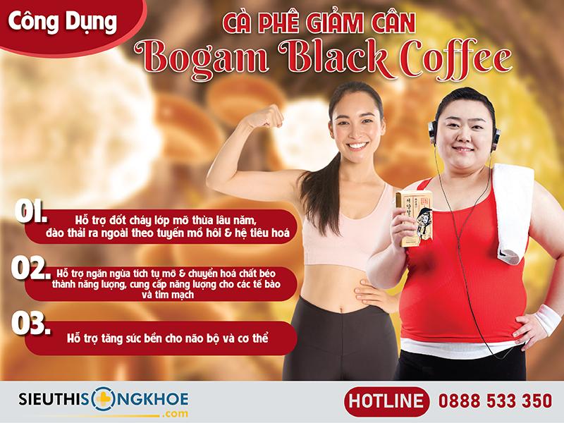 công dụng của bogam black coffee