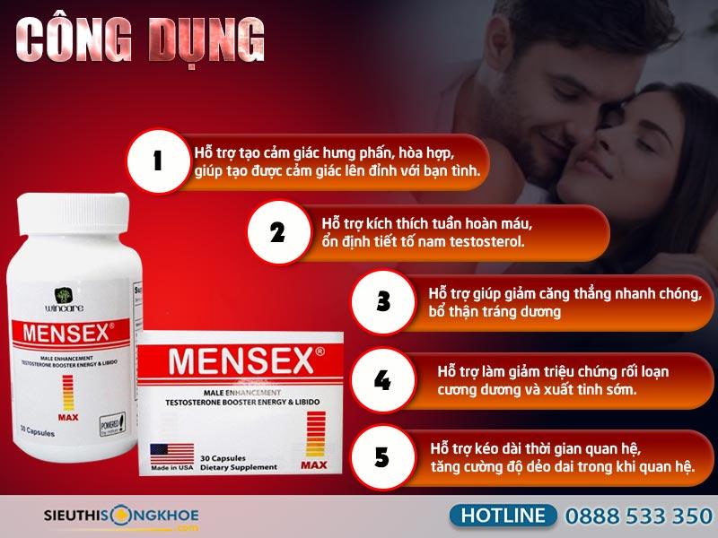công dụng của mensex max