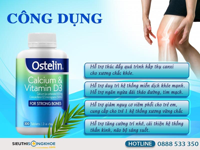 công dụng của ostelin calcium & vitamin d3