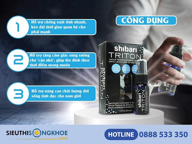 công dụng của shibari triton