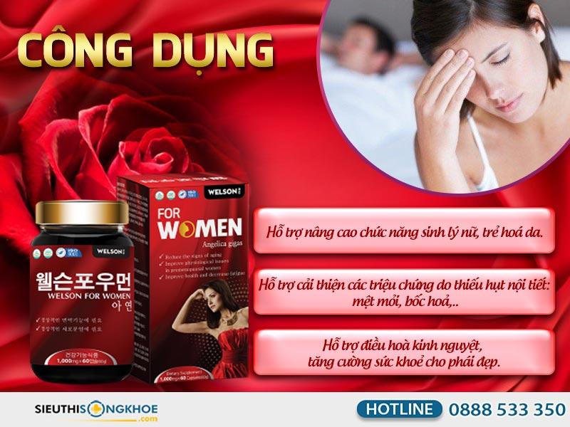 công dụng của welson for women