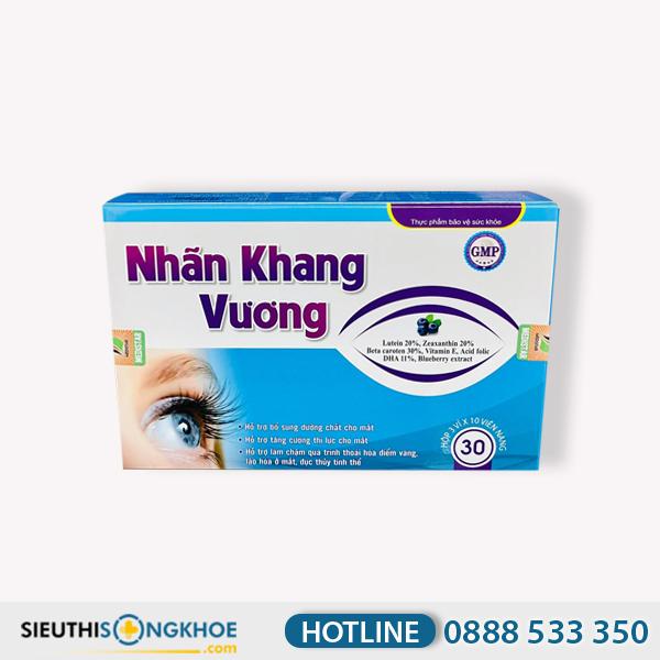 Nhãn Khang Vương - Viên Uống Hỗ Trợ Giảm Khô & Dưỡng Sáng Mắt