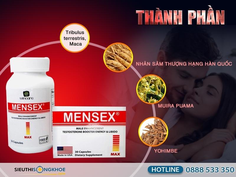 thành phần của mensex max