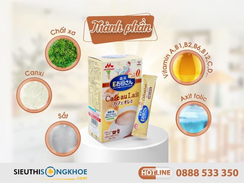 thành phần của morinaga cafe au lait