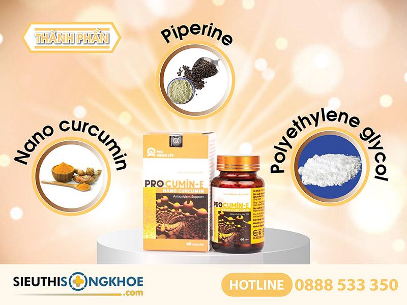 thành phần của viên uống procumin-e