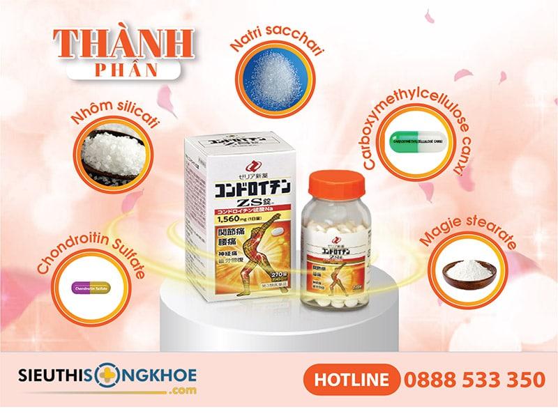 thành phần của viên uống zs chondroitin