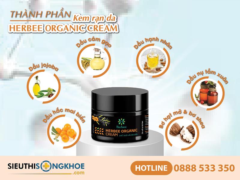 thành phần của herbee organic cream